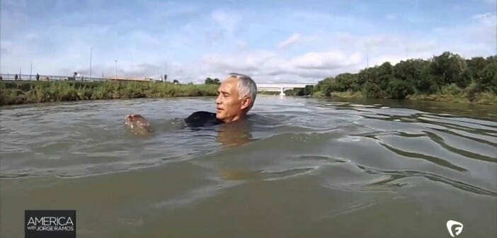 jorge ramos swimming