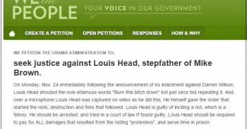 White House Petition Seeks Justice Against Louis Head for Inciting #Ferguson Riots