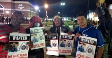 Protesters VERY UPSET With Darren Wilson's Resignation – Hand Out WANTED Signs in #Ferguson