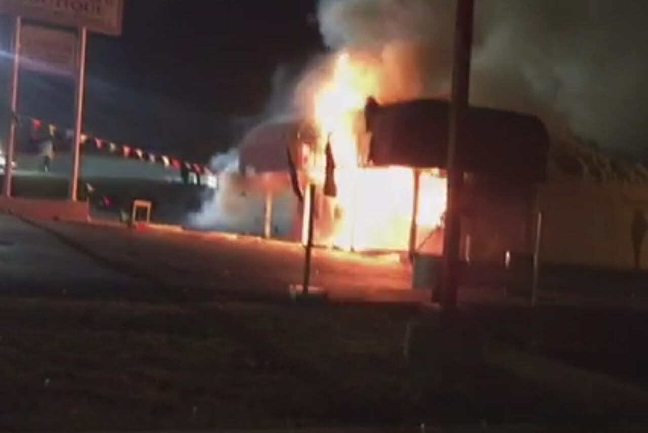 torched shop ferguson