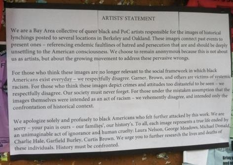 black artists statement