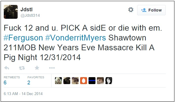 ferguson death threat