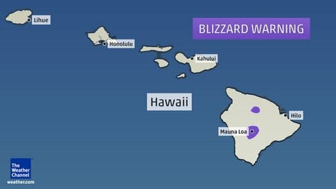 hawaii blizzard