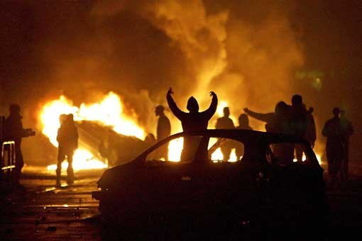 france torched cars