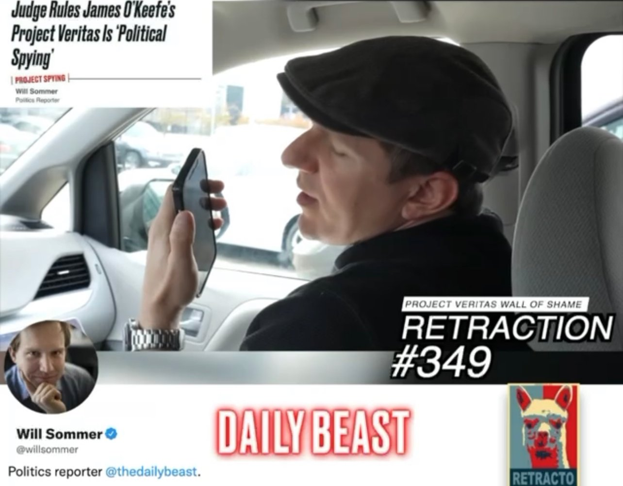 """WATCH: """"Fastest Retraction In PV History"""" – Project Veritas James O'Keefe Calls Will Sommer's BS (VIDEO)"""