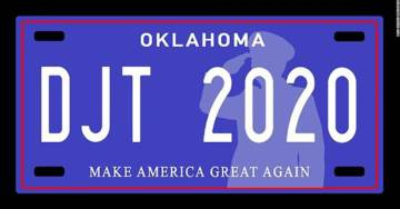 Republican State Senators in Oklahoma Propose MAGA Themed Specialty License Plates