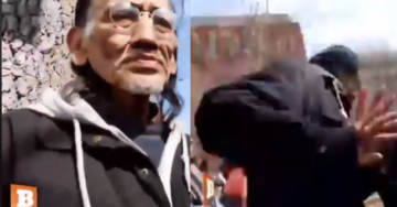 Nathan Phillips Pushes Camera and Runs When Confronted By Reporter About Covington (VIDEO)