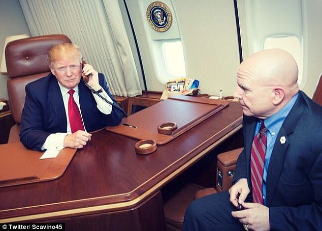 POTUS Trump Calls Navy Commanders From Air Force One, Thanks Them For 'Quick Response' in Syria Strikes (PHOTOS)