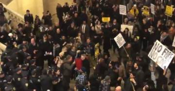Antifa Swarms NYC for 'F-ck the Police' Demonstration, Vandalize and Sabotage Public Transit Entrances to Protest Fares