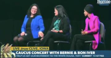 Even a Broken Clock is Right Twice a Day: Watch Rep. Rashida Tlaib Lead Bernie Sanders Supporters in Booing Hillary Clinton