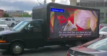 Rebel Media Reporter Brings Jumbotron Truck Featuring 'The Squad' Refusing to Denounce Antifa to DNC HQ (VIDEOS)