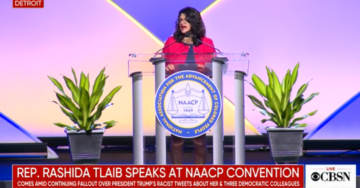 Rep. Rashida Tlaib Says She's 'Not Going Nowhere, Not Until I Impeach This President'