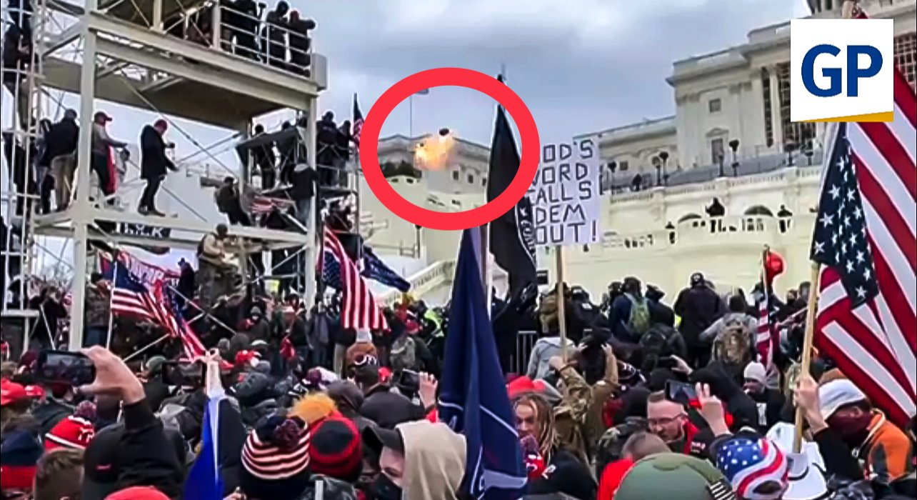 CAPITOL POLICE FIRED EXPLODING FLASH GRENADE INTO CROWD on Jan. 6 — Explosion Fired into Crowd of Men, Women and Children! A98786F0-4E22-4298-A745-828298EAE740