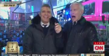 CNN SIDESHOW: Anderson Cooper Gets Tipsy on Air Doing Hourly Tequila Shots on New Year's Eve Broadcast (VIDEO)