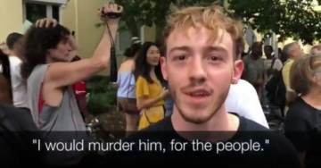 """I Would Murder Him – Do Him Like Gaddafi"" Antifa Activists on Video Threaten to Kill President Trump at Unite The Right Counter-Protest"