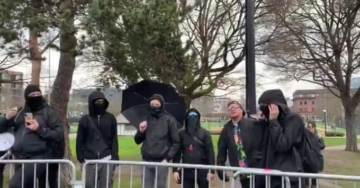 """White Antifa Terrorist Screams """"F*** You, Uncle Tom!"""" at Black Trump Supporter at Seattle MLK Day Observance"""