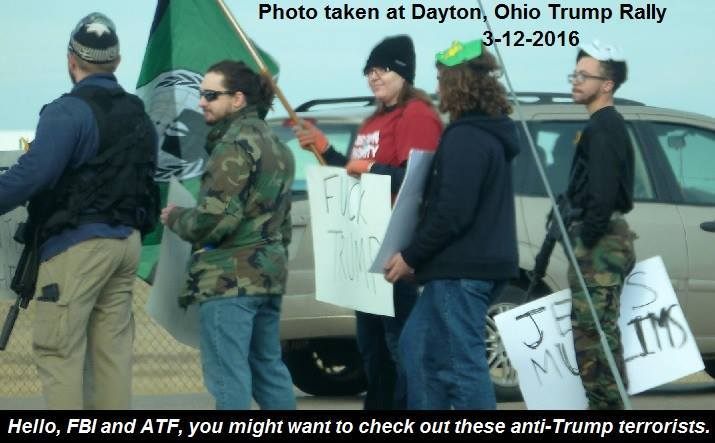 Armed Trump protesters Dayton Free Republic Travis McGee