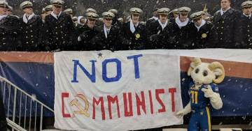 Photos=> At Army-Navy Game, Cadets Taunted Over Communist West Point Grad