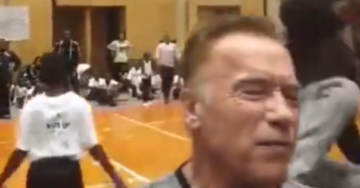 BREAKING—–  Arnold Schwarzenegger Brutally Attacked in South Africa by Crazed Lunatic! (VIDEO) –Update — SECOND ANGLE