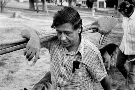 Cesar Chavez of the United Farm Workers Union,  April 1974, California. Bill Eppridge