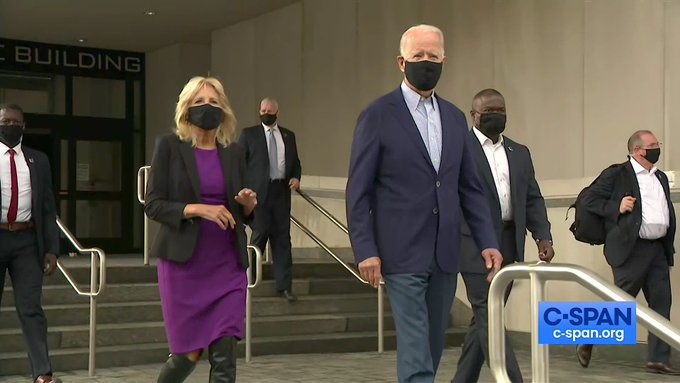 Rules for thee but not for me: Biden just voted in person, but you're not allowed. Voting in person is only for the elites, you don't deserve the same rights as the rich. (thegatewaypundit.com)