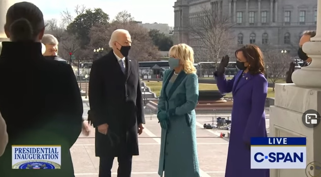 Biden Forgets to Salute the Marines During Inauguration – Looks Lost – Kamala Harris Waves at Him Trying to Bring Him Back