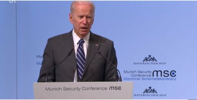 Reports: Biden Considering New Presidential Run, 'Steals Show' at Munich Security Conference With 2020 Buzz