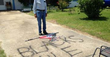 'Blacks Rule' Painted Next to Burned Mississippi Flag on Disabled Vet's Driveway