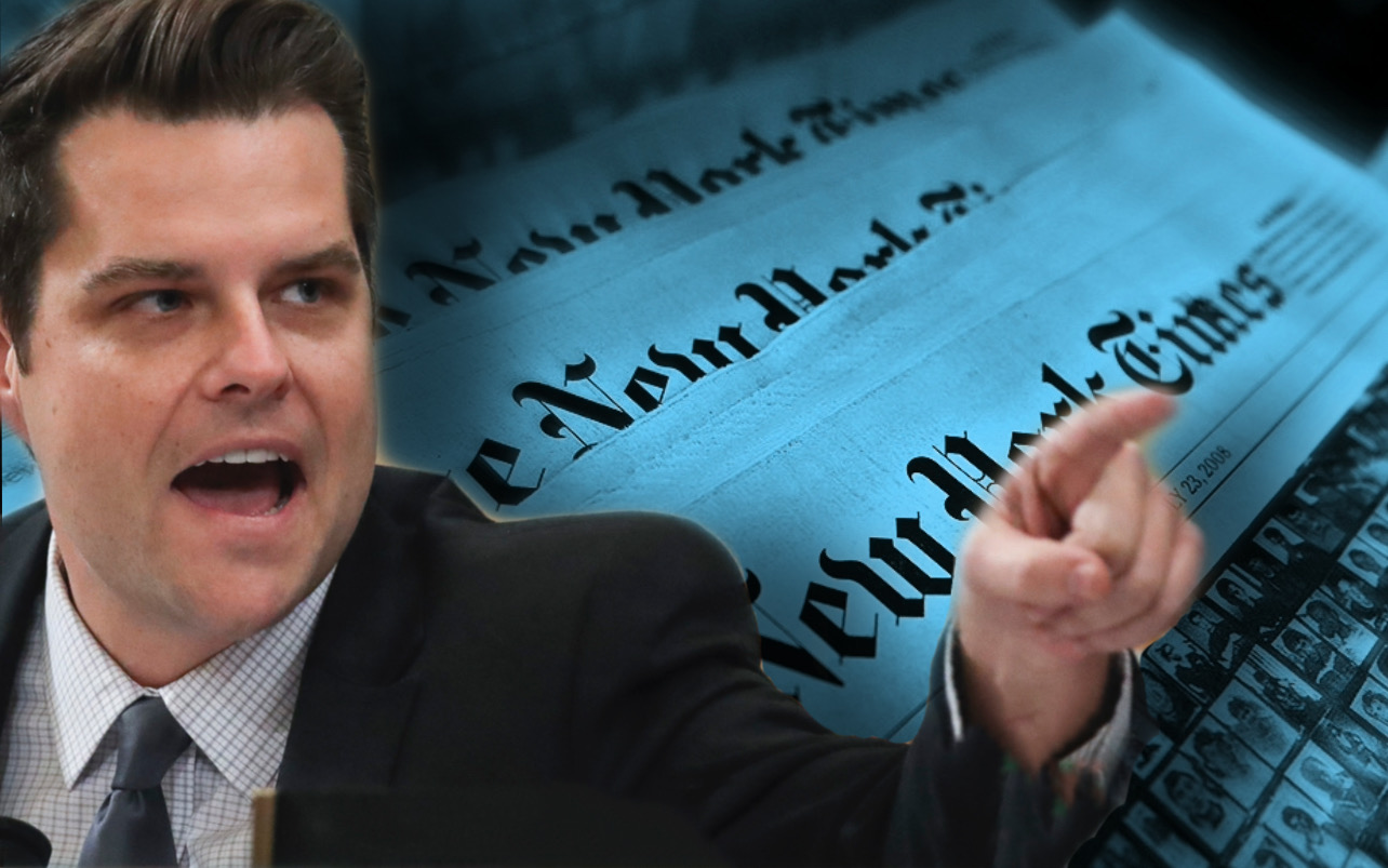 """Allegations Against Me Are as Searing as They Are False"" - Matt Gaetz Responds to Scurrilous Hit Piece by New York Times - Update"