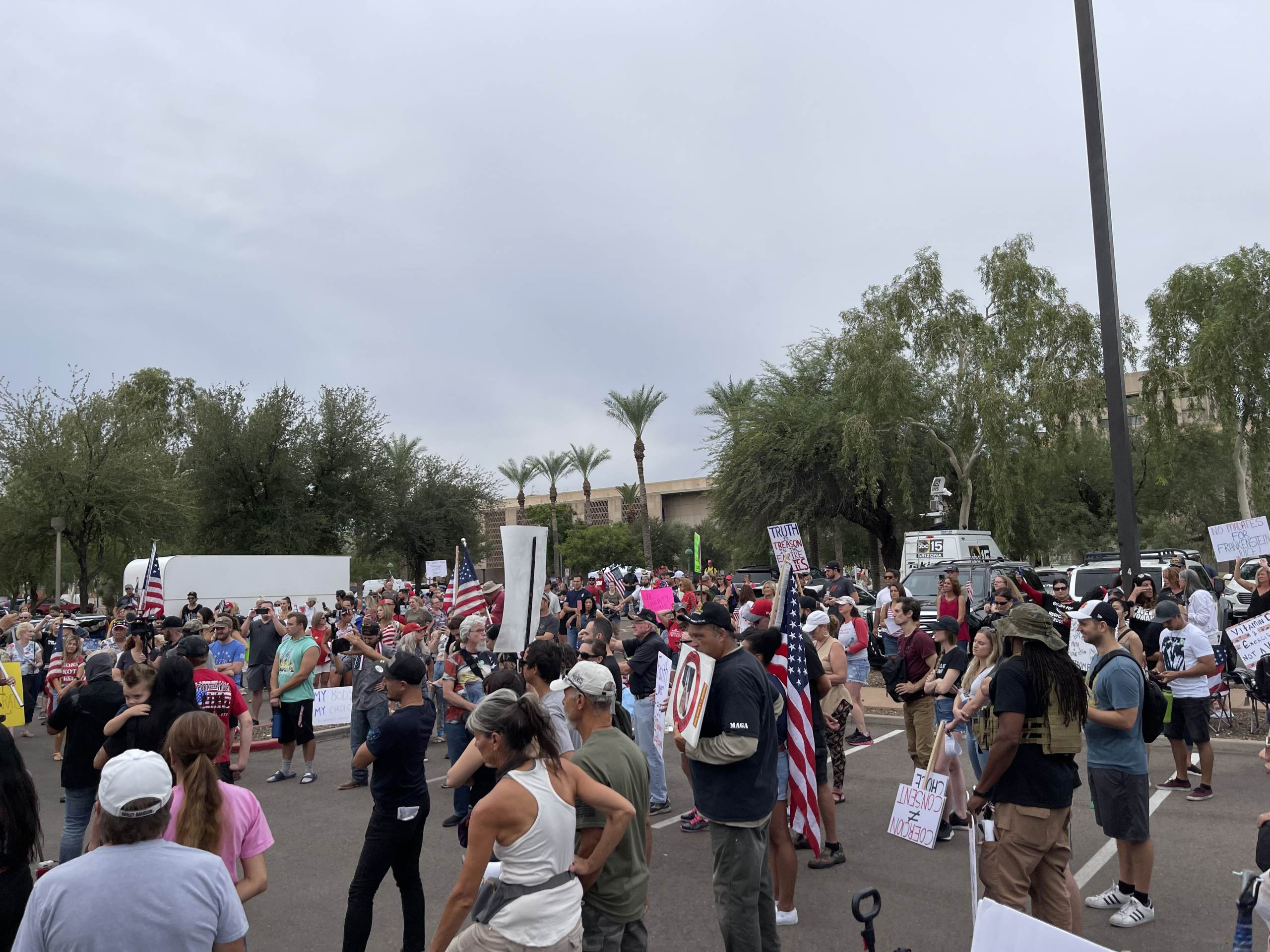 HUGE RALLY Forms Outside Arizona Senate Hearing — AZ Patriots Come Out in Force as Audit Exposes Massive Fraud in 2020 Election