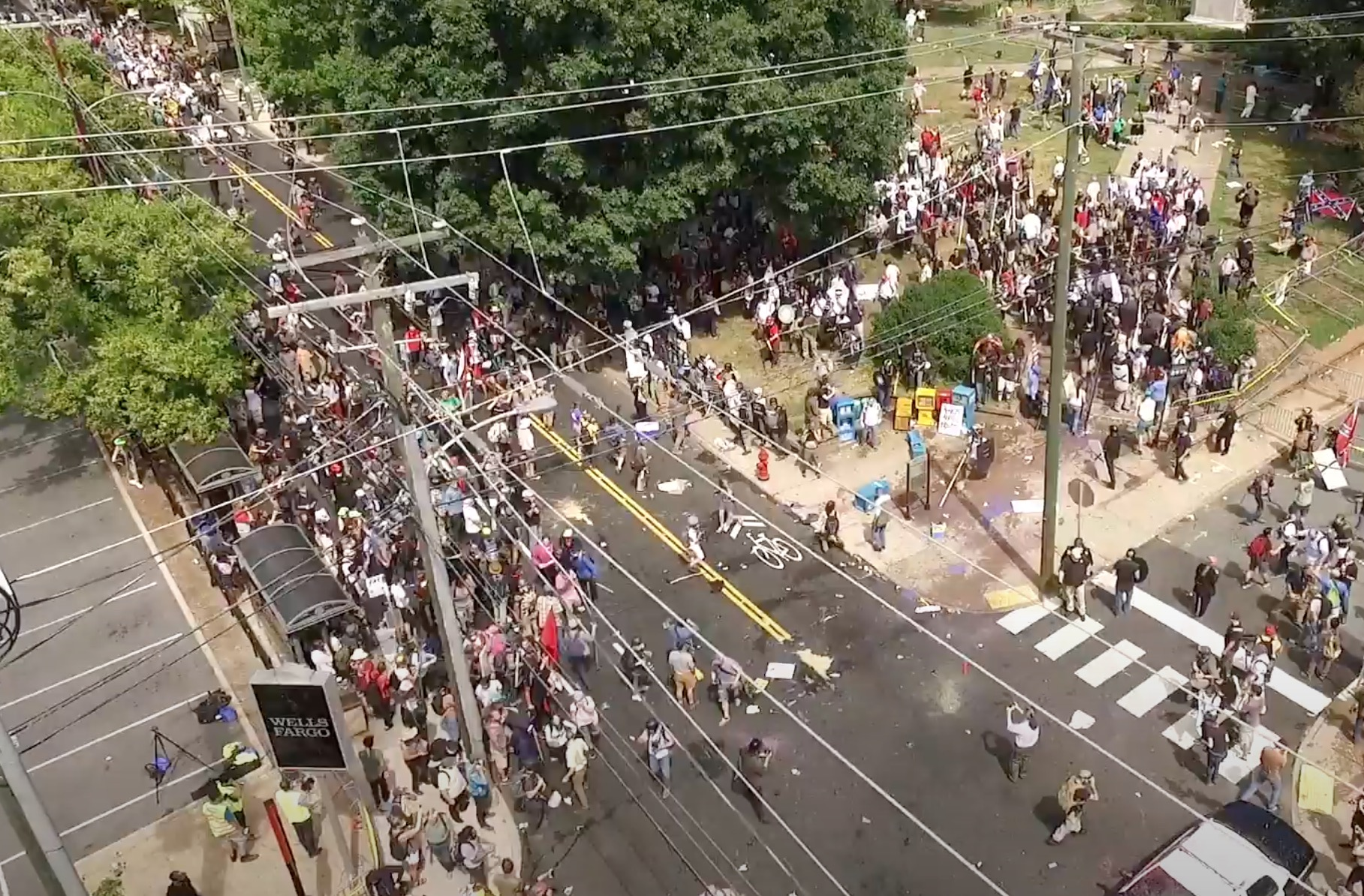 Never-Before-Seen Drone Footage from Charlottesville 2017 Protests Reveals Enormous Extent of Media Lies and Propaganda CVille-drone_23-26