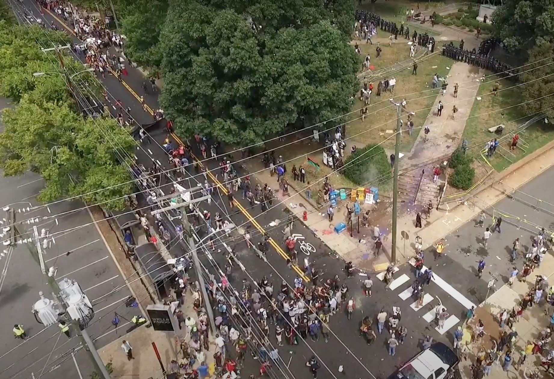 Never-Before-Seen Drone Footage from Charlottesville 2017 Protests Reveals Enormous Extent of Media Lies and Propaganda CVille-drone_26-20
