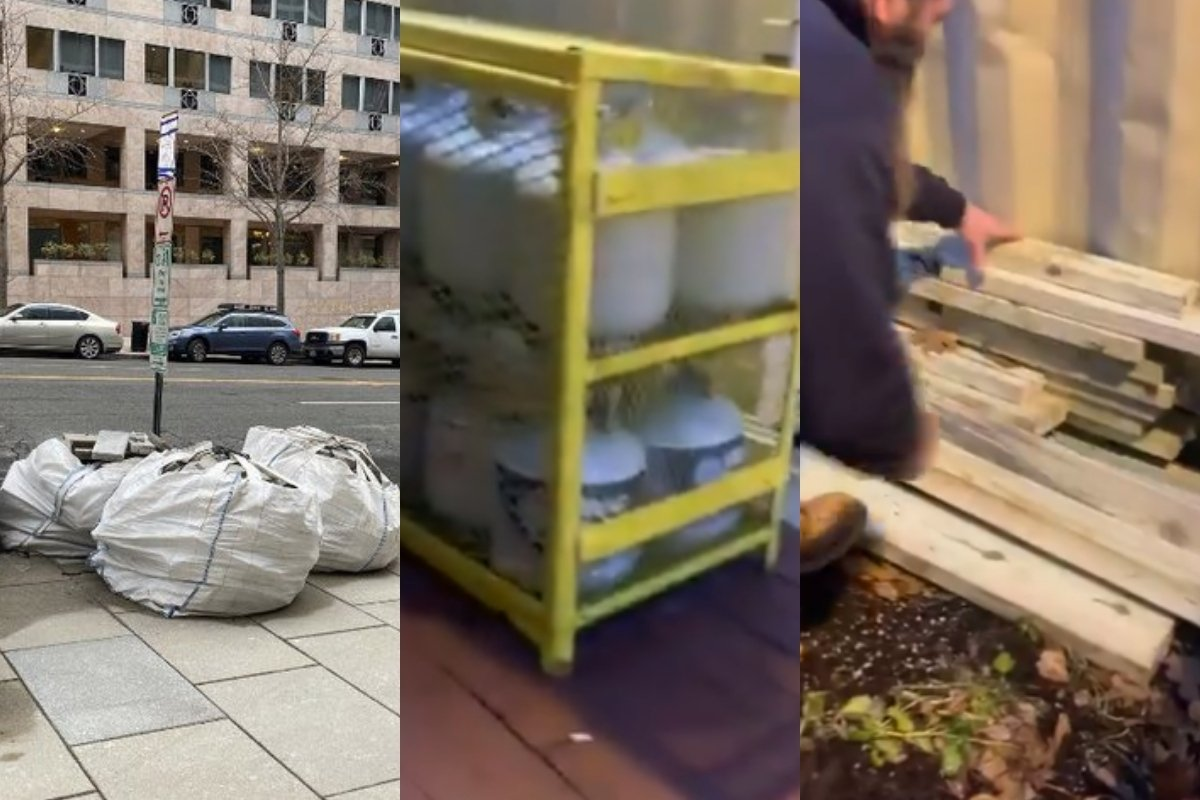 Bricks, Lumber and Propane Tanks Left Out on DC Streets Ahead of Wednesday's Stop the Steal Protests (VIDEO)