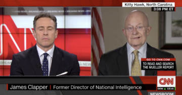 "Clapper Tries to Backtrack, Tells CNN: ""Collusion Obstruction Aside, The Big Story Is The Magnitude Of Russia Interference"" (Video)"