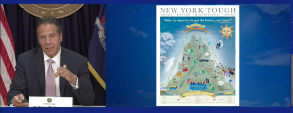 Governor Cuomo May Be In Trouble – Melissa DeRosa Is His Assistant Who Outed Him and Her Mother-in-Law, Audrey Strauss, Is Head of the DOJ's SDNY Cuomo-Coronavirus-Poster-Briefing-Screen-Image-07132020-600x233