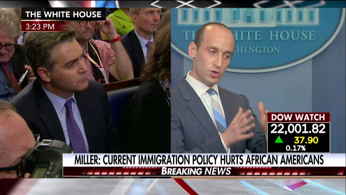 "EPIC! Stephen Miller DESTROYS CNN Hack Jim Acosta: ""That is One of the Most Outrageous, Insulting Things You've Ever Said"" (VIDEO)"