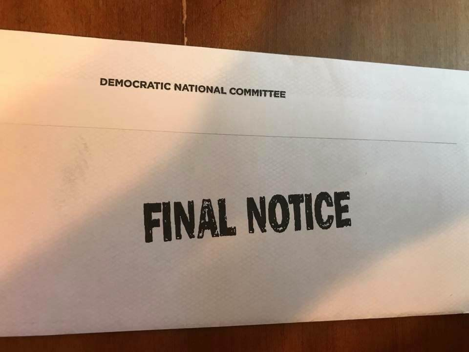 Final Notice Dnc Under Fire For Sending Fundraising Pleas