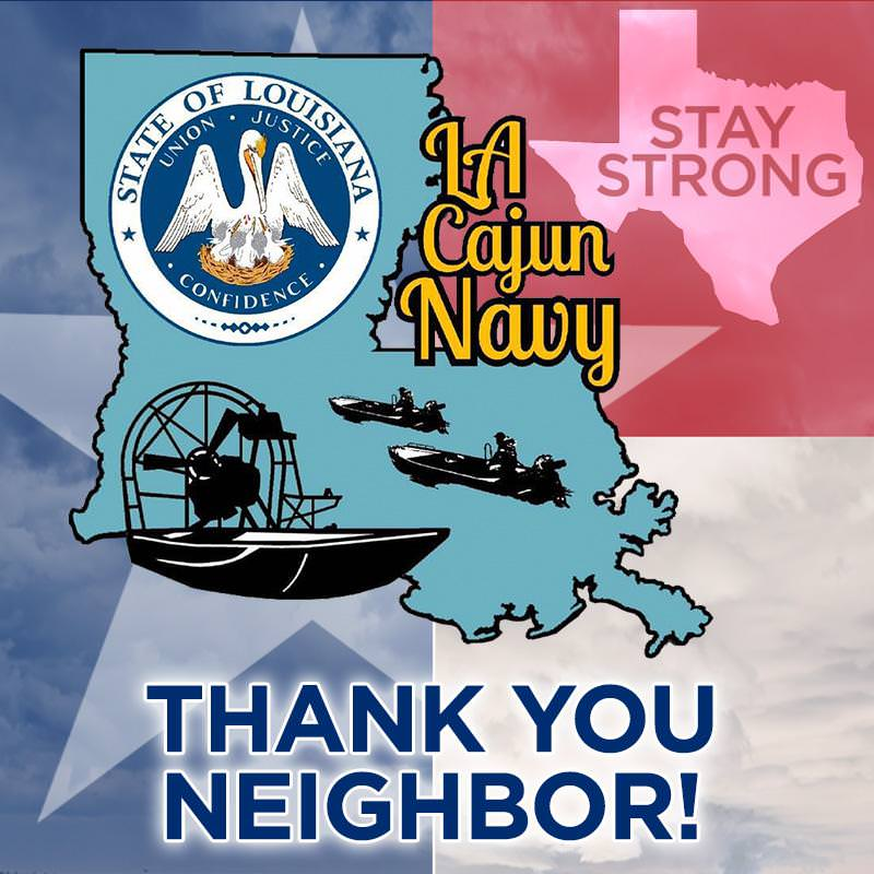As Texans help one another, lifting each other in spirit and prayer, the 'Cajun Navy,' a large group from Louisiana, is in Houston armed with trucks and ...