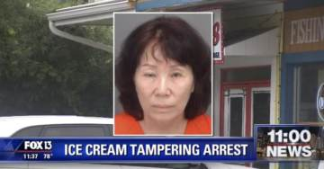 WTH? Woman Arrested For Urinating Into Ice Cream Bucket, Spitting on Ice Cream