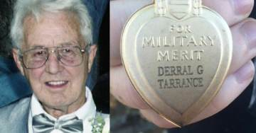 Stolen Purple Heart Found In Trash Reunites With Family