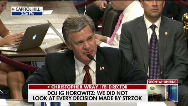 "FBI Director Wray Praises Mueller ""I Do Not Believe Special Counsel Mueller is on a Witch Hunt"" (VIDEO)"