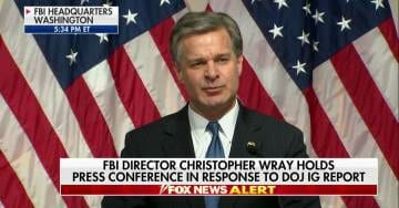 FBI Director Wray Defends the Swamp in Press Conference After IG Report Released 'No Evidence of Political Bias' (VIDEO)
