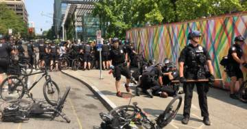 MAYHEM IN SEATTLE:  Police Toss Antifa Around, Make Arrests After They Harass and Threaten Conservative Group in Restaurant (VIDEO)