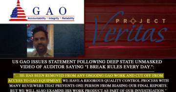 DEEP STATE SCALP=> Open Communist in Latest Project Veritas Undercover Video Removed From Ongoing GAO Work