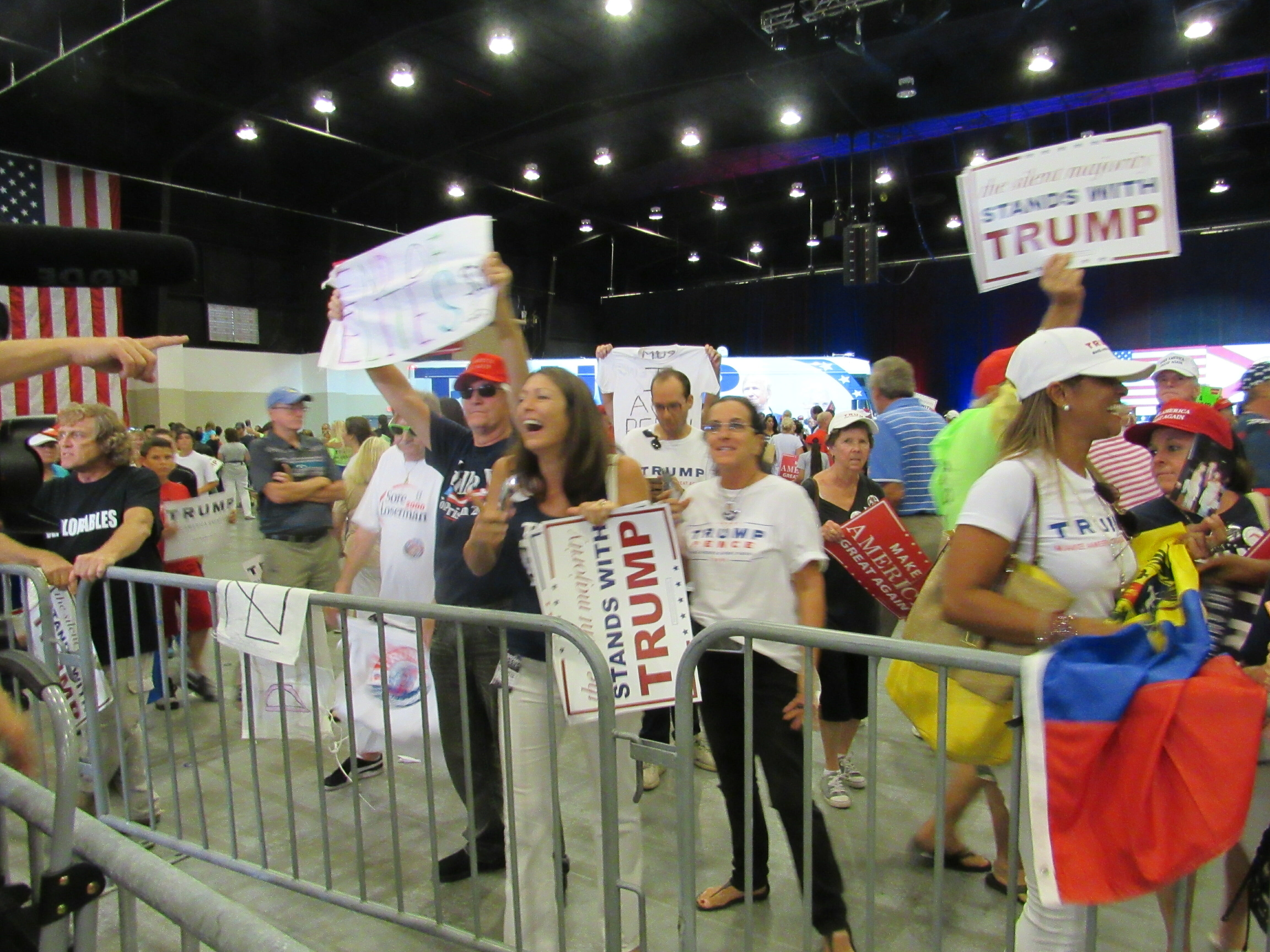 Trump supporters engage media after West Palm Beach rally