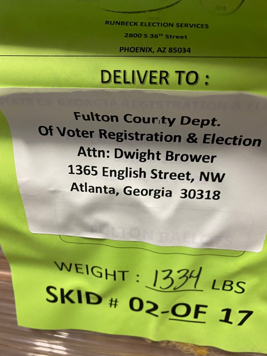 GATEWAY PUNDIT: Arizona Firm, Runbeck Election Services, Is Return Address on Pallets of Counterfeit Ballots Found In Fulton County, GA Warehouse. RUNBECK HAS VERY CLOSE TIES TO DEMOCRAT PARTY. (Recall Korean Air Offloading Ballots in Phoenix) (thegatewaypundit.com)