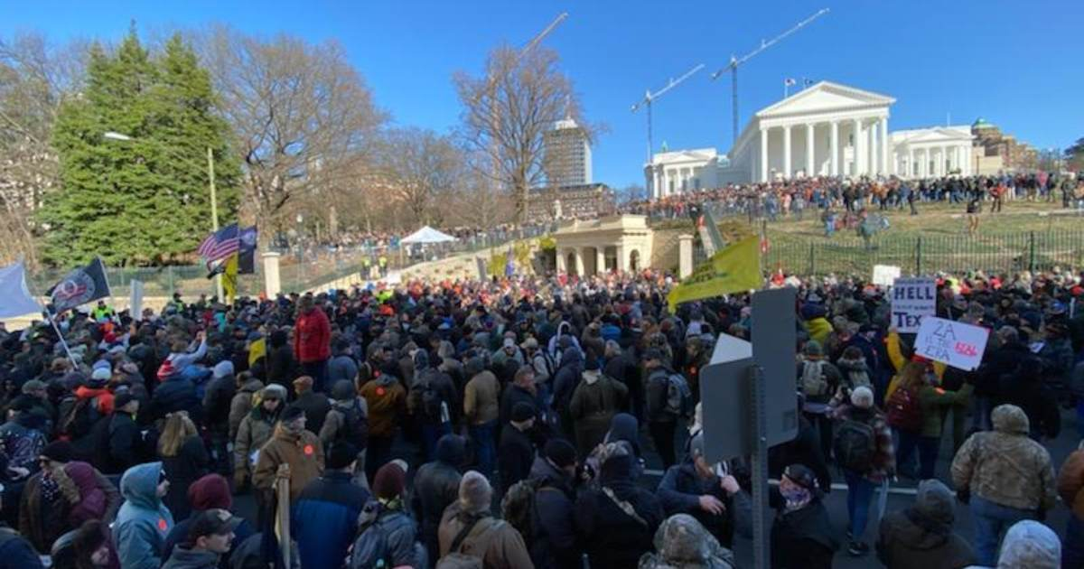 Law Enforcement Estimates 25,000 People Attended Virginia Gun Rights Rally, 'All Peaceful'