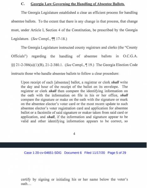 Lin Wood Files Emergency Motion for Injunctive Relief Against Georgia Secretary of State 2