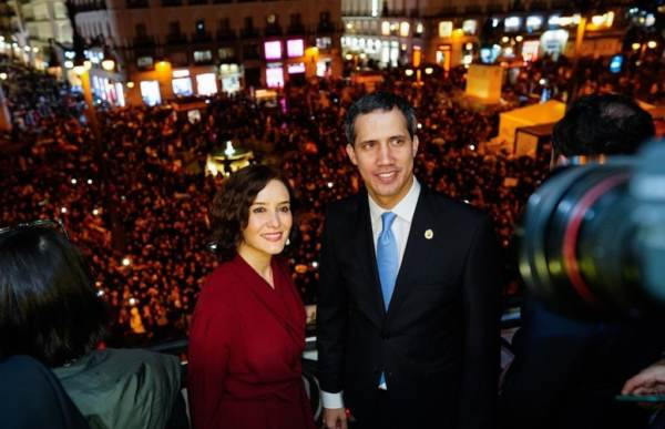 Guaido from Cibeles, Madrid