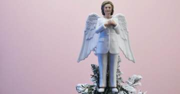 Dreaming of a What (Happened) Christmas: Lib Media Gushes Over Hillary Clinton 'Resistmas' Christmas Tree Angel